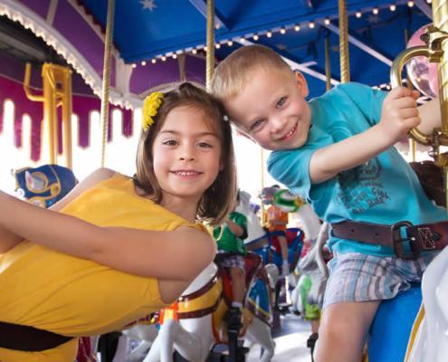 Kinderen in Disneyland Parijs