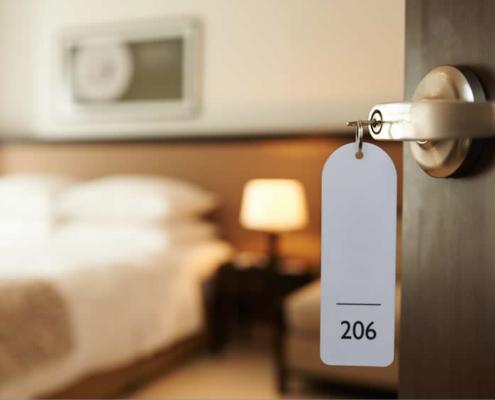 Hotelkamer sleutel